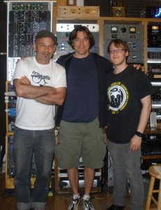 Tony Maimone, Tom Devaney and Matt Labozza after the final mix of Second Year In Swine, 2011